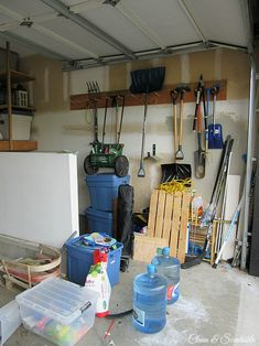 Garage Makeover before photos.  You won't believe the after!
