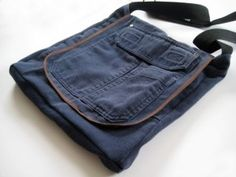 messenger bag from old pants