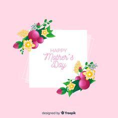 Happy mother's day Free Vector | Premium Vector #Freepik #vector #flower