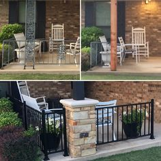 Black Wrought Iron Fence With Redwood Frame Custom