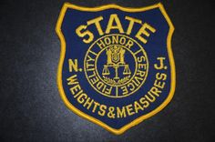 New Jersey State Weights & Measures Inspector Patch