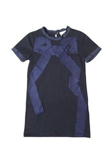 LANVIN PETITE - JERSEY GROSGRAIN BOW DRESS - LUISAVIAROMA - LUXURY SHOPPING WORLDWIDE SHIPPING - FLORENCE
