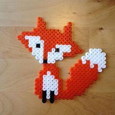 Fox hama beads by michelleparlar