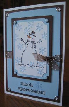 snowman in a box by ncmorgan - Cards and Paper Crafts at Splitcoaststampers