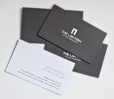 Bazinas Law Firm Business Card - I like the Brown background.   I ...