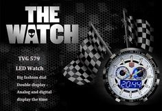 Tvg 579 Male Dual Time LED Watch