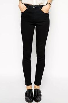 Solid Color High Waisted Slimming Pants