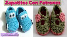 Zapatitos de bebe con Patrones - Tejidos a Crochet