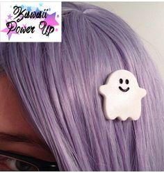 Kawaii Ghost Hair Clip on Etsy, $4.55 CAD