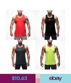 b23ec10baababb Vests Mens Gym Sports Singlet Train Bodybuilding Tank Top Vest Sleeveless  T-Shirts  ebay