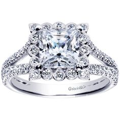Brides Magazine: Engaged by Gabriel & Co. :  W-ER8734D4 : Engagement Rings Gallery