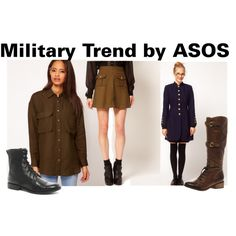 """Military Trend by ASOS"" by lotusblossomdesign on Polyvore"