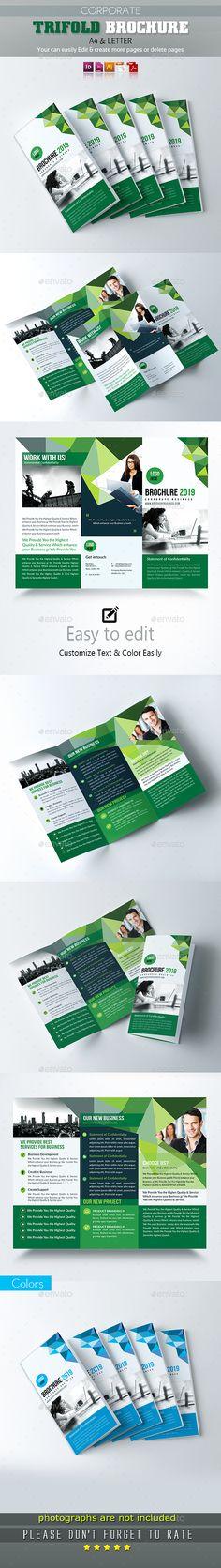 Corporate Tri-Fold Brochure Template Vector EPS, InDesign INDD, AI Illustrator