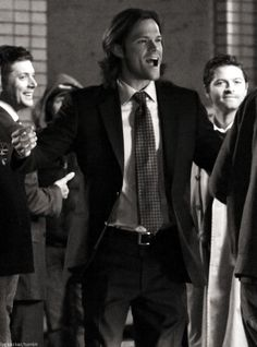 Jared, Jensen and Misha BTS