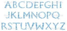frozen free printables alphabet letters | Alphabet made of frozen water —Photo by spaxiax
