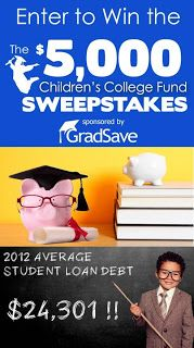 #Sweepstakes ~ Win The $5,000 Children's College Fund Sweepstakes ~ USA  http://www.linkiescontestlinkies.com/2013/07/sweepstakes-win-5000-childrens-college.html