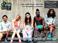 DAY 2 and a lovely 20% OFF at #PantstoPoverty on us :)
