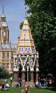 London Buxton Memorial Fountain Fountain, Tower, Memories, London, Building, Travel, Rook, Big Ben London, Lathe