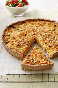 Billede af Tærte med skinke og gulerødder