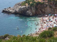 Sicily, Italy. Riserva Naturale Orientata dello Zingaro. You walk along the coast and enjoy an incredible view especially at sunset. You have many beaches along the way and they are like little paradises.