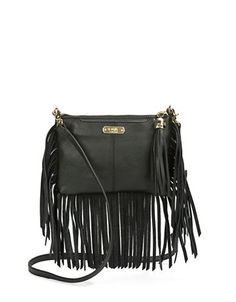 Fringed Crossbody Bag | Lord and Taylor
