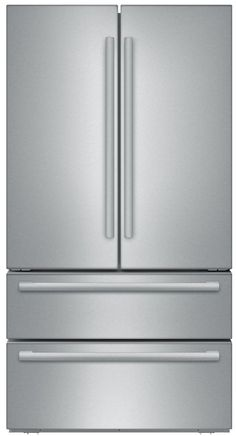 Charmant Bosch B21CL81SNS 36 Inch Counter Depth French Door Refrigerator With 20.7  Cu. Ft. Capacity, Dual Freezer Drawers, Adjustable Glass Shelving, ...