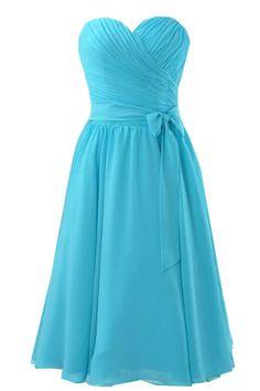 Chiffon sweetheart Bridesmaid dress..<3