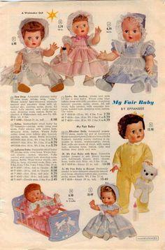 1960 ADVERTISEMENT Doll Baby Effanbee My Fair Baby Wishmaker Linda The Darling