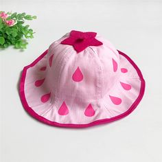 Click to Buy    2017 Lovely Baby Kids Strawberry Printed Bucket Hat  Folding.    eb29d2b1d4cd