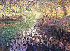 "Arthur Maderson ""River Dordogne, towards Sunset"" Oil on board, x Irish Art, Color Harmony, Contemporary Landscape, Impressionist, Landscape Paintings, Art Gallery, River, Sunset, Artist"