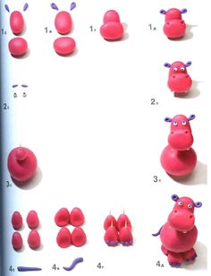 nijlpaard kleien met kleuters, stap voor stap