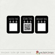 Brilliant: how to add videos to your Project Life and other scrapbooking or cards etc. (Using a QR code).