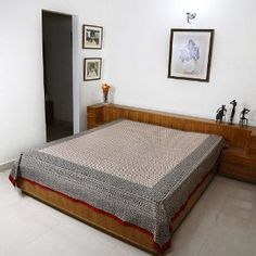 Indian Bed Linen Flat Sheet Only Block Print Cotton Decor Home Styles: Amazon.co.uk: Kitchen & Home
