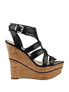 12/21 Guess Diane Platform Wedges ($24.98) 77% Off #dresses