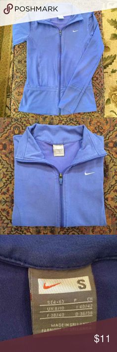 Nike Warm Up Jacket Women's Nike Warm up jacket in great condition. Indigo color. I am open to offers. Listed cheaper on Merc! Nike Jackets & Coats
