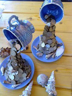 Купить Денежные парящие кружечки - золотой, парящая чашка, парящая кружка, ручная работа, монеты