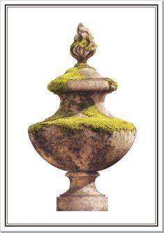Andrew Zega and Bernd H. Dams, watercolor, Vase at Raray