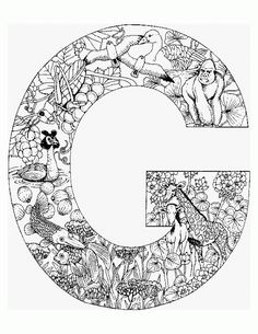 l animal alphabet letters to print wonderful coloring pages! http ... - Challenging Animal Coloring Pages