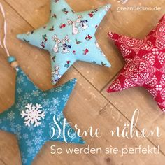 Sewing poinsettias: with these 5 tricks they will be perfect! Informations About Weihnachtssterne nähen – Mit diesen 5 Tricks werden sie perfekt! Handmade Christmas, Christmas Crafts, Christmas Decorations, Xmas, Christmas Ornaments, Holiday Decor, Christmas Stars, Kids Christmas, Christmas Stockings