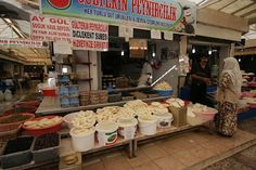 Cheese markets... yum! Diyarbakir, Turkey