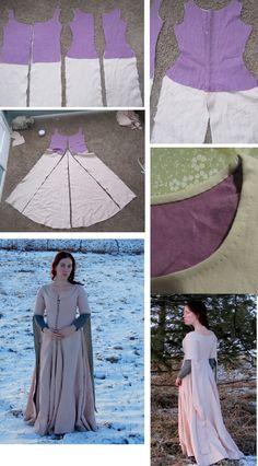 Romantic History: cotehardie TUTORIAL : http://romantichistory.blogspot.com/2012/01/cutting-cotehardie.html