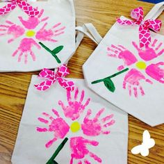 Handprint Tote Bag - Mothers Day Gifts from Kids: