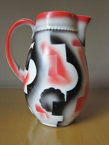 LEUCHTENBURG GERMAN CHINA  PITCHER 1930'S ART DECO / MODERNISM / BAUHAUS ERA!!!!