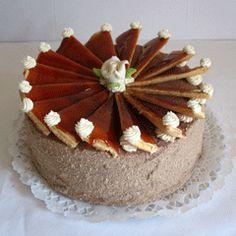 Tortaimádó: Dobos torta Hungarian Cuisine, Hungarian Recipes, Tiramisu, Dishes, Cake, Ethnic Recipes, Foods, Google, Cooking