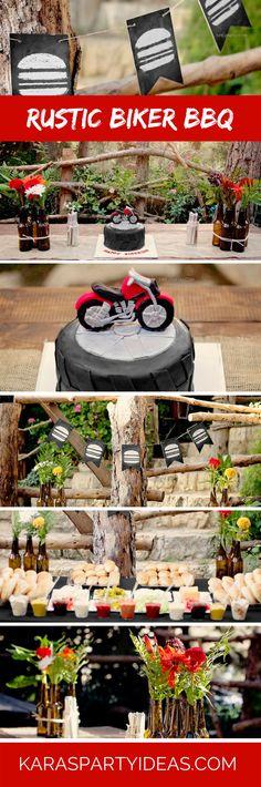 Rustic Biker BBQ via Kara's Party Ideas - KarasPartyIdeas.com