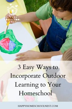 3 Easy Ways to Incorporate Outdoor Learning into Your Homeschool. Happy Homeschool Nest ~ Balancing Home Peaceful Home, Homeschooling Resources, Homeschool High School, Outdoor Learning, Organization Hacks, Lesson Plans, Nest, Student, How To Plan