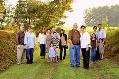 """large family shots- love the """"parents"""" out front"""