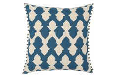 A pretty cushion is an easy way to add decorative pattern to any room – this one comes in this gorgeous indigo hue.