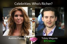 Audrina Patridge and Tobey Maguire: who is richer?