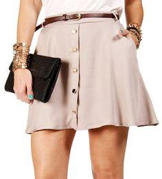 #Windsor                  #Skirt                    #Taupe #Belted #Button #Skater #Skirt               Taupe Belted Button Skater Skirt                                              http://www.seapai.com/product.aspx?PID=1758010